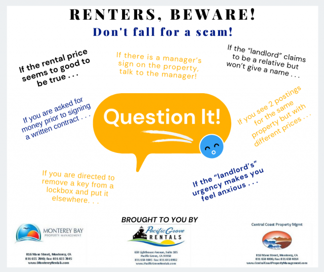 RENTERS, BEWARE! Don't fall for a scam!