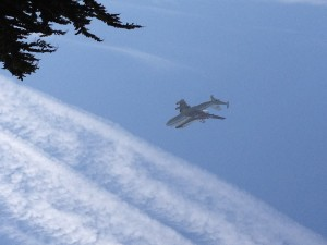 Space Shuttle over Cannery Row